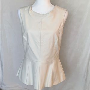 Co faux leather top size s medium